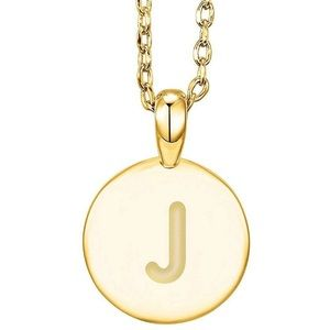 ✨ • 14K YELLOW GOLD Woman's Initial Necklace | J |